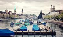 Regnerisches und dennoch schönes Stadtbild - Zürich