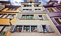 Bunte Reihenhäuser in der Altstadt - Zürich